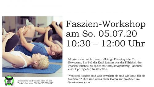 workshop Juli 20 Faszien